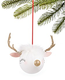 Shimmer & Light Glass Deer Ornament, Created for Macy's