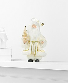 Santa Ornament with Tree and Gift Bag, Created for Macy's