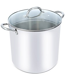 16-Qt. Stainless Steel Stock Pot with Lid, Created for Macy's