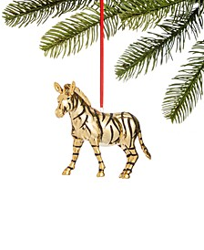 Safari Molded Gold-Tone Zebra Ornament, Created for Macy's