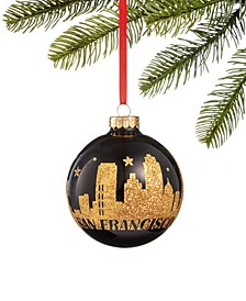 San Francisco Scenic Glass Ball Ornament, Created for Macy's