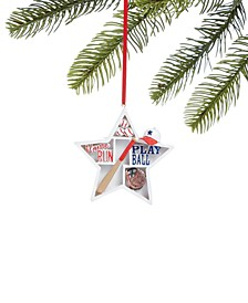 Sports Star Shaped Baseball Ornament, Created for Macy's