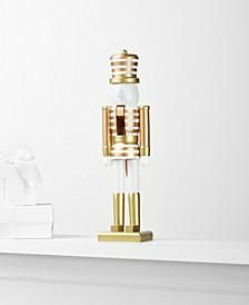 Shine Bright Gold Stripe Nutcracker, Created for Macy's