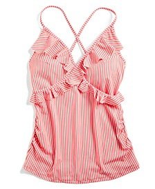 Ruffled Tankini Swimsuit