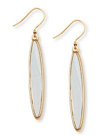 Gold-Tone Mother-of-Pearl Drop Earrings