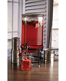 Canned Collection Dispenser on Metal Stand, 2 Gal