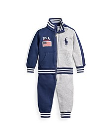 Ralph Lauren Baby Boy Track Jacket and Jogger Set