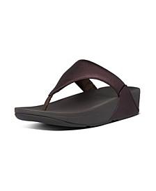 Women's Lulu Leather Toe-Thongs Sandal