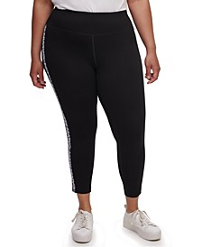 Plus Size Logo Print Leggings
