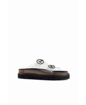 Women's Circle Buckle Lowform C Flat Sandal Women's Shoes