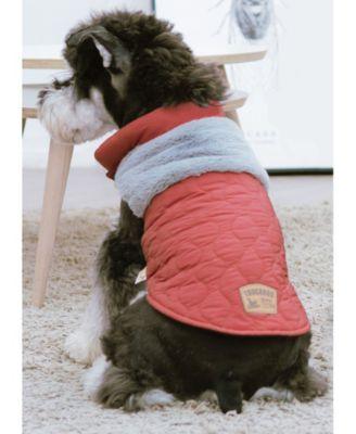 'Furrost-Bite' Faux Fur and Fleece Fashion Dog Jacket Large