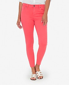 Connie High-Rise Raw-Hem Skinny Jeans