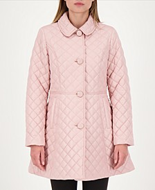 Skirted Quilted Coat