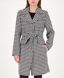 Gingham Belted Wrap Coat, Created for Macy's