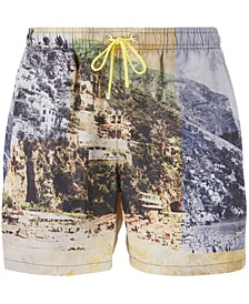 BOSS Men's Springfish Quick-Dry Photo-Print Swim Shorts
