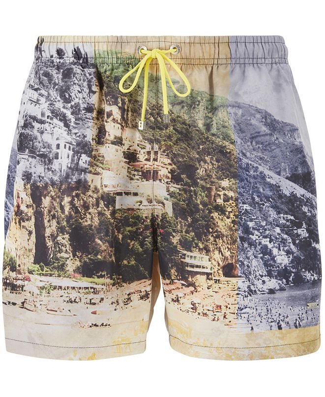 Hugo Boss BOSS Men's Springfish Quick-Dry Photo-Print Swim Shorts