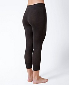 Natori Fresh Cotton High-Waist Crop Legging