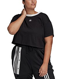 Plus Size Cotton Cropped Top