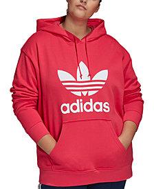 adidas Originals Plus Size Trefoil Hooded Sweatshirt