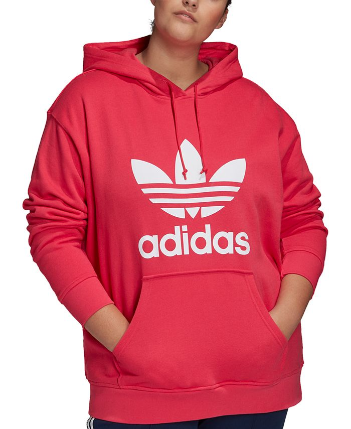 adidas - Plus Size Originals Trefoil Hooded Sweatshirt