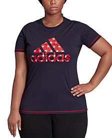 adidas Plus Size Cotton Graphic T-Shirt
