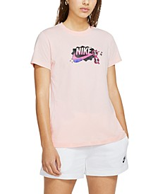 Women's Sportswear Cotton Logo-Graphic T-Shirt