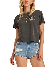 Juniors' Cotton Tanlines Cropped T-Shirt
