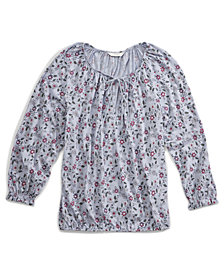 Lucky Brand Floral-Print Peasant Top