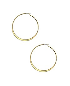Large Flat Edge Hoop Earring