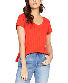 Ruby Scoop Textured T-Shirt