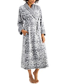 Long Floral Scroll Robe, Created for Macy's