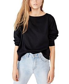 Oversize Drop Shoulder Long Sleeve Top