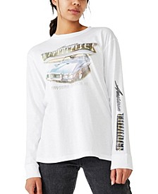 Martha Graphic Boyfriend Long Sleeve T-Shirt