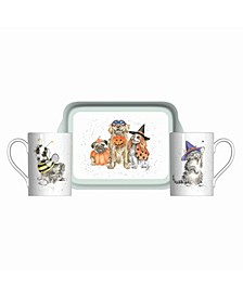 3 Piece Mug and Tray Set - Trick or Treat