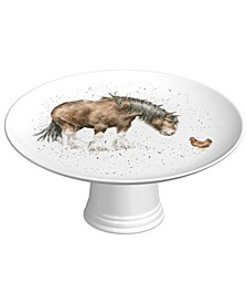 Footed Cake Plate - Farmyard Friends