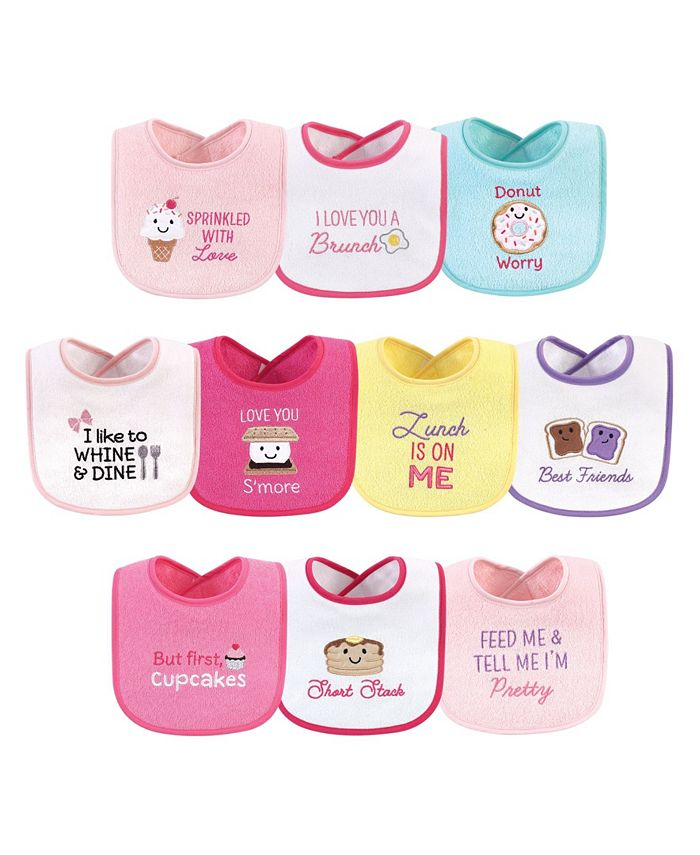 Hudson Baby - - Baby Boys and Girls Cotton Terry Drooler Bibs Set