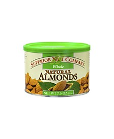 Whole Natural Almonds, 7.5 oz, 12 Count