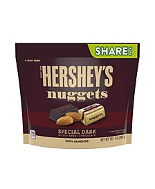 Nuggets Special Dark Mildly Sweet Chocolate with Almonds Candy, 10.1 oz, 3 Pack