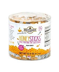 Honig Honey Sticks Raw Honey, 80 Pieces, 22.6 oz