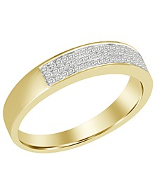 Men's Diamond (1/5 ct.t.w.) Band in 10k Yellow Gold