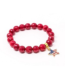 Jade Stars and Stripe Star Give Back Collection Bracelet