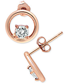 Giani Bernini Cubic Zirconia Circle Stud Earrings, Created for Macy's