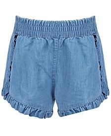 Toddler Girls Ruffled Denim Shorts, Created for Macy's