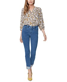 Ami Chewed-Cuff Skinny Ankle Jeans