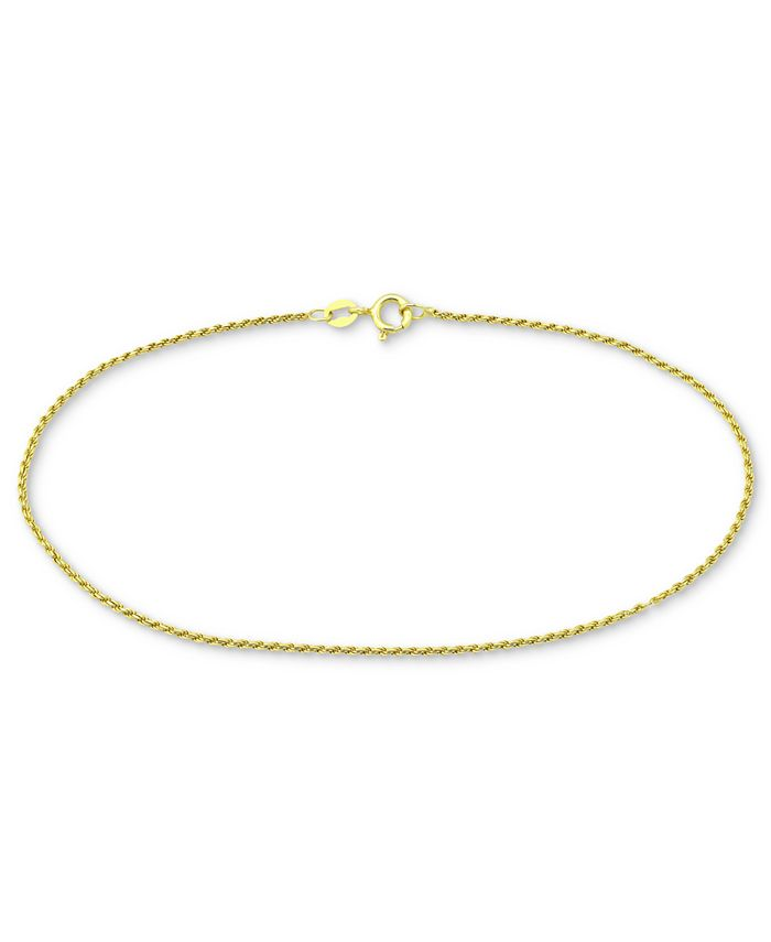Giani Bernini - Twist Rope Ankle Bracelet in 18k Gold-Plated Sterling Silver or Sterling Silver