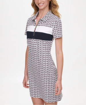 Tommy Hilfiger PRINTED POLO DRESS, CREATED FOR MACY'S