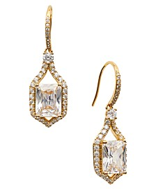 Cubic Zirconia & Stone Framed Drop Earrings, Created for Macy's