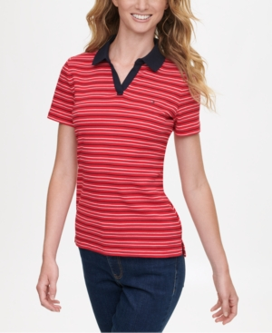 Tommy Hilfiger COTTON STRIPED POLO SHIRT, CREATED FOR MACY'S