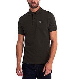 Men's Tartan Pique Cotton Polo
