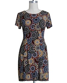 Plus Size Medallion-Print Dress